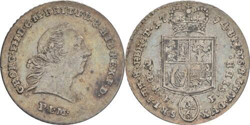 Lieferumfang:Deutschland : 1/6 Taler Georg III patina 1794 ss/vz.