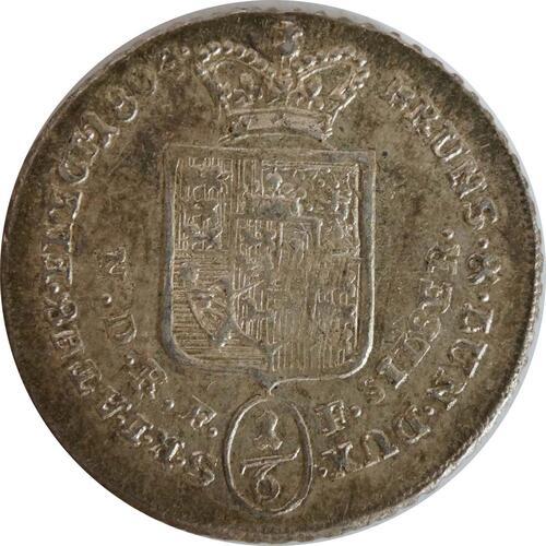 Rückseite:Deutschland : 1/6 Taler Georg III  1804 Stgl.