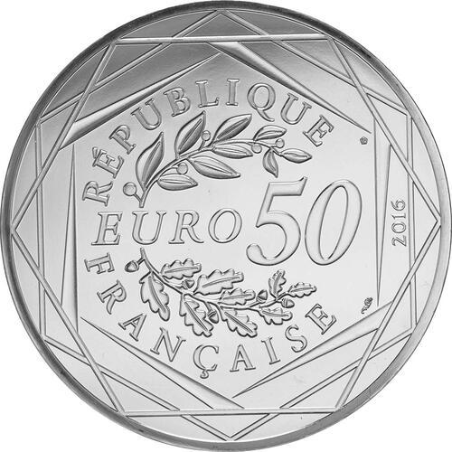 Rückseite:Frankreich : 50 Euro Der kleine Prinz fliegt mit den Vögeln 2/2  2016 bfr