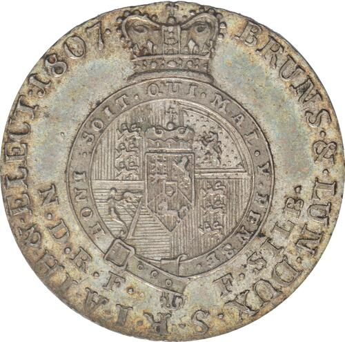 Rückseite :Deutschland : 1/6 Taler Georg III  1807 vz/Stgl.