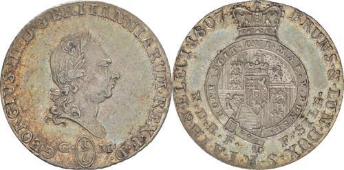 Lieferumfang :Deutschland : 1/6 Taler Georg III  1807 vz/Stgl.