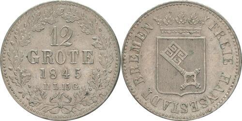 Lieferumfang :Deutschland : 12 Grote   1845 vz.