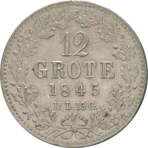 Vorderseite :Deutschland : 12 Grote   1845 vz.