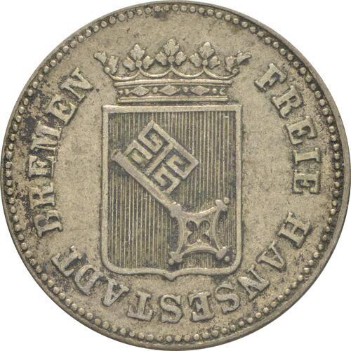 Rückseite:Deutschland : 6 Grote  patina 1857 ss/vz.