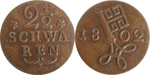 Lieferumfang :Deutschland : 2 1/2 Schwaren   1802 vz.