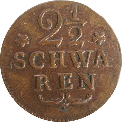 Vorderseite :Deutschland : 2 1/2 Schwaren   1802 vz.