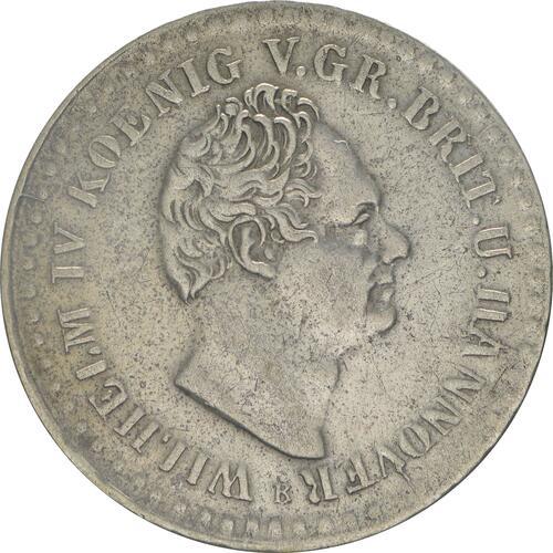 Vorderseite:Deutschland : 1/12 Taler   1836 ss/vz.