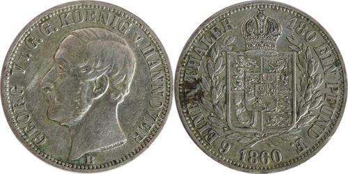 Lieferumfang:Deutschland : 1/6 Taler   1860 ss/vz.