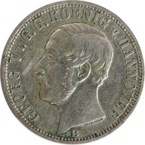 Vorderseite:Deutschland : 1/6 Taler   1860 ss/vz.
