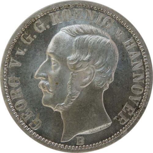 Vorderseite:Deutschland : 1/6 Taler   1860 Stgl.