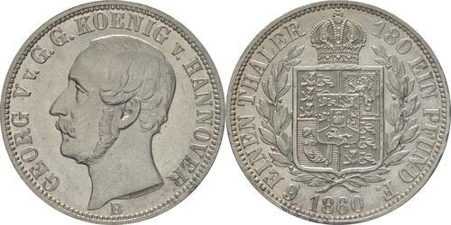 Lieferumfang:Deutschland : 1/6 Taler   1860 vz/Stgl.