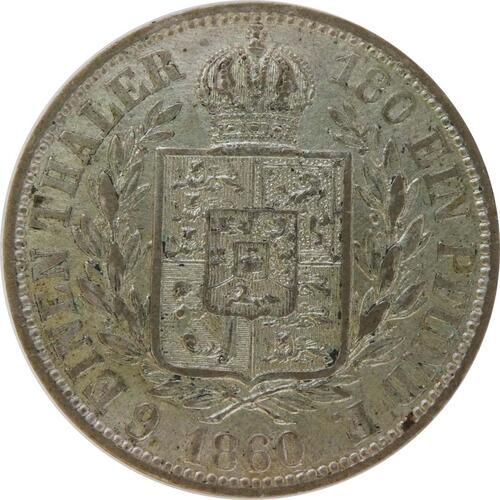 Rückseite:Deutschland : 1/6 Taler  patina 1860 vz.