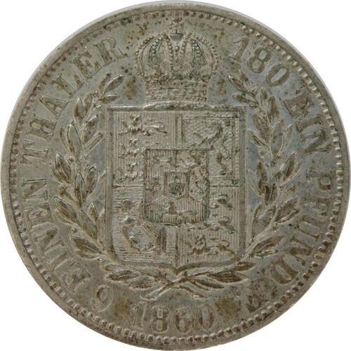 Rückseite :Deutschland : 1/6 Taler  patina 1860 vz.