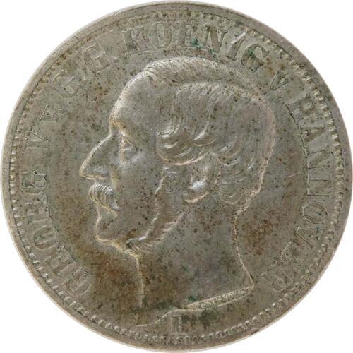 Vorderseite :Deutschland : 1/6 Taler  patina 1860 vz.