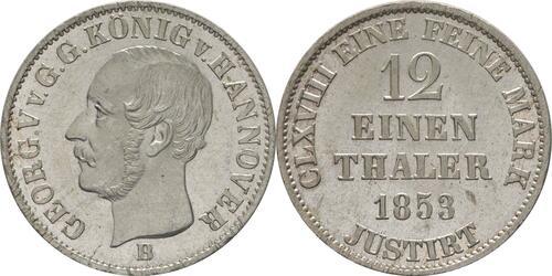 Lieferumfang:Deutschland : 1/12 Taler  -fein- 1853 Stgl.