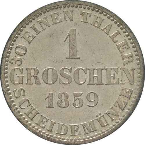 Rückseite:Deutschland : 1 Groscchen   1859 Stgl.