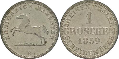 Lieferumfang :Deutschland : 1 Groscchen   1859 Stgl.
