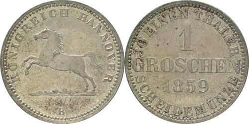 Lieferumfang :Deutschland : 1 Groschen   1859 vz/Stgl.