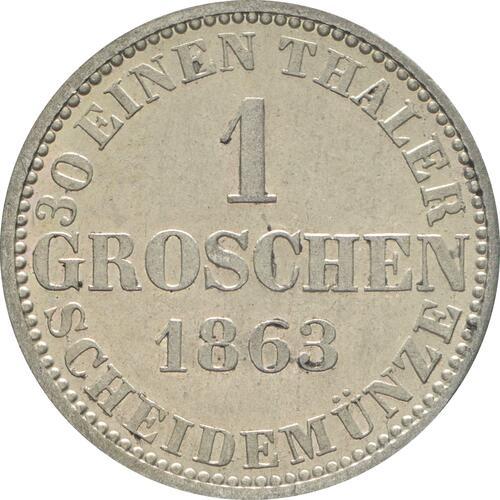Rückseite :Deutschland : 1 Groschen   1863 vz/Stgl.