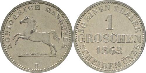 Lieferumfang :Deutschland : 1 Groschen   1863 vz/Stgl.