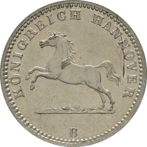 Vorderseite :Deutschland : 1 Groschen   1863 vz/Stgl.