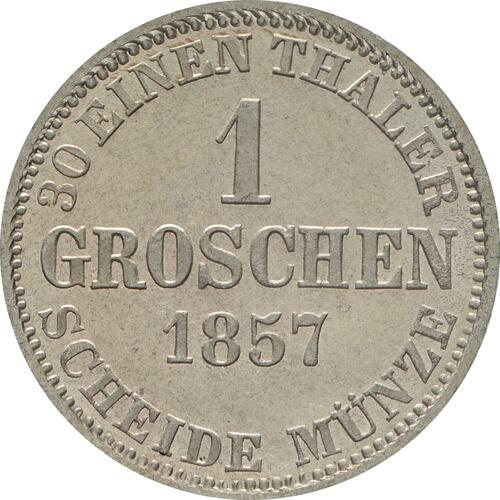 Rückseite:Deutschland : 1 Groschen  winz. Kratzer 1857 Stgl.