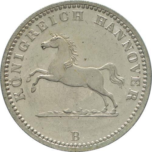Vorderseite:Deutschland : 1 Groschen   1865 Stgl.