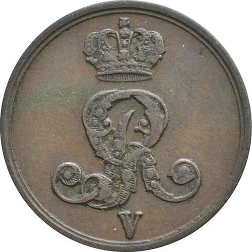 Rückseite:Deutschland : 1 Pfennig  -seltenes Jahr- 1852 vz.