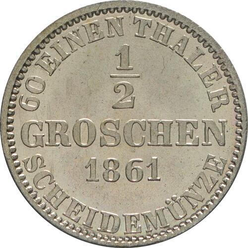 Rückseite:Deutschland : 1/2 Groschen  winz. Kratzer 1861 Stgl.