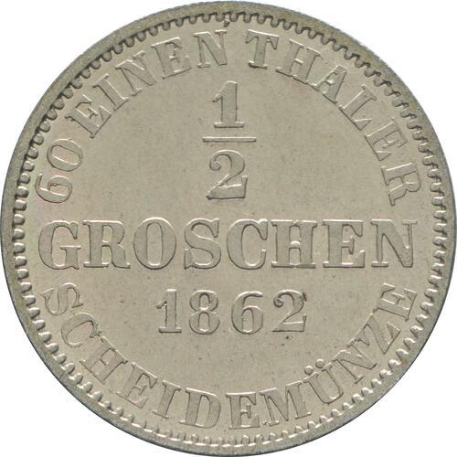Rückseite :Deutschland : 1/2 Groschen  -fein- 1862 Stgl.