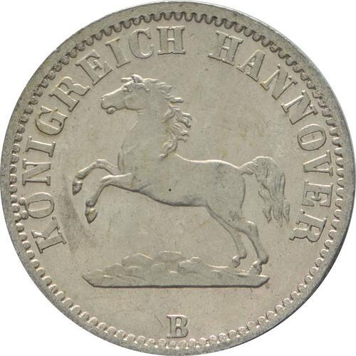 Vorderseite:Deutschland : 1/2 Groschen   1865 Stgl.