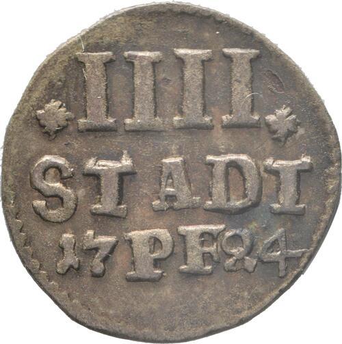 Vorderseite:Deutschland : 4 Pfennig   1724 vz.