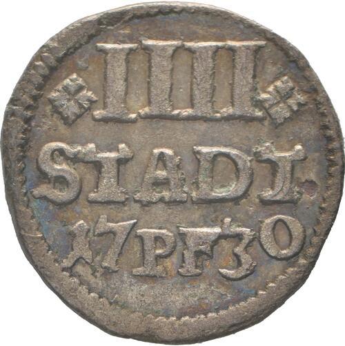 Vorderseite:Deutschland : 4 Pfennig   1730 vz.