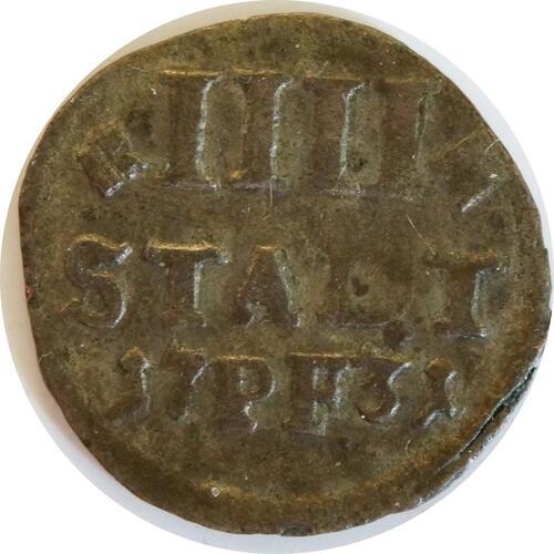 Vorderseite:Deutschland : 4 Pfennig   1731 ss.