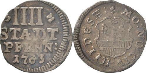 Lieferumfang :Deutschland : 4 Pfennig   1763 ss.