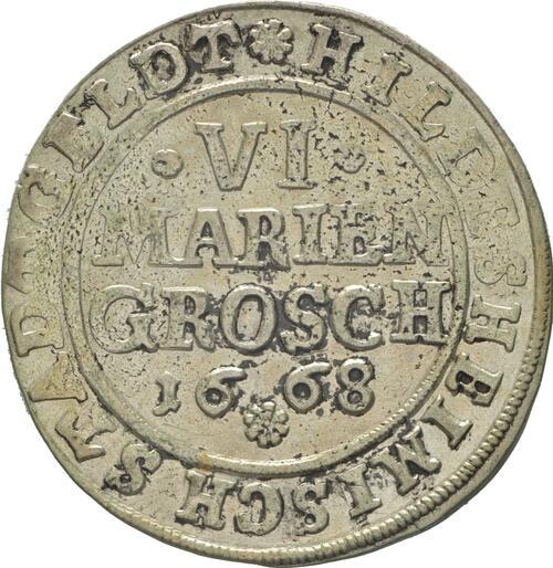 Vorderseite:Deutschland : 6 Mariengroschen  -selten- 1668 ss.