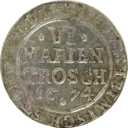 Vorderseite:Deutschland : 6 Mariengroschen   1674 ss.