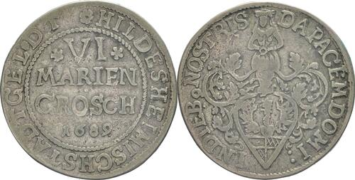 Lieferumfang :Deutschland : 6 Mariengroschen   1689 ss.