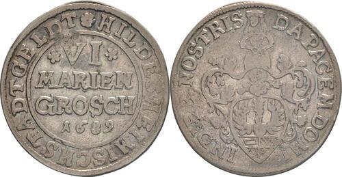 Lieferumfang:Deutschland : 6 Mariengroschen   1689 ss/vz.