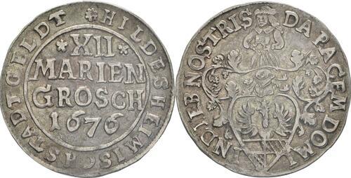 Lieferumfang:Deutschland : 12 Mariengroschen   1676 ss/vz.
