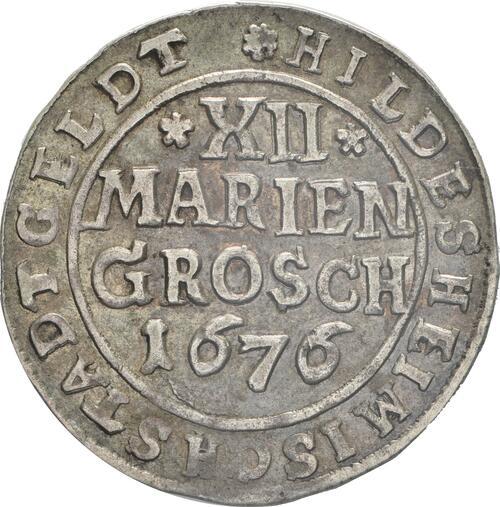Vorderseite:Deutschland : 12 Mariengroschen   1676 ss/vz.