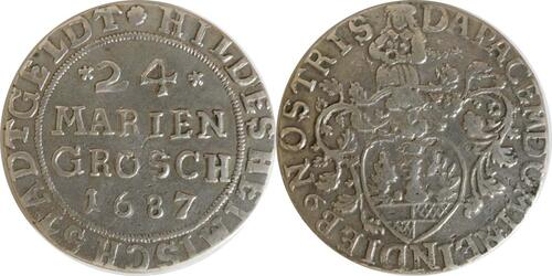 Lieferumfang:Deutschland : 24 Mariengroschen  winz. Kratzer 1687 ss/vz.