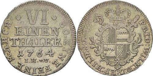 Lieferumfang :Deutschland : 1/6 Taler Friedrich Wilhelm von Westfalen !Erhaltung! 1764 vz.