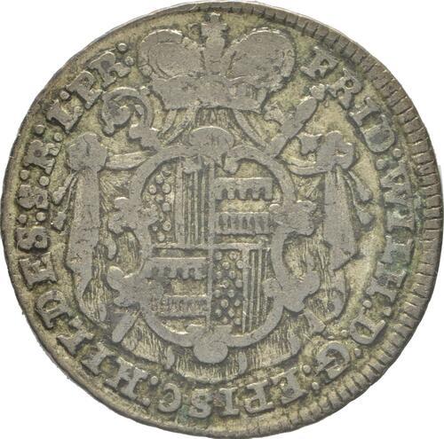 Rückseite:Deutschland : 1/12 Taler Friedrich Wilhelm von Westfalen  1763 ss.