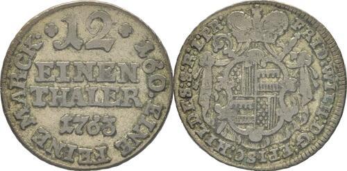 Lieferumfang:Deutschland : 1/12 Taler Friedrich Wilhelm von Westfalen  1763 ss.