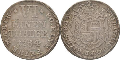 Lieferumfang:Deutschland : 1/6 Taler Friedrich Wilhelm von Westfalen  1764 ss/vz.