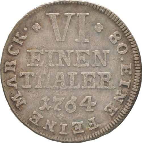 Vorderseite:Deutschland : 1/6 Taler Friedrich Wilhelm von Westfalen  1764 ss/vz.