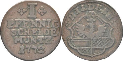 Lieferumfang :Deutschland : 1 Pfennig  -selten- 1772 vz.