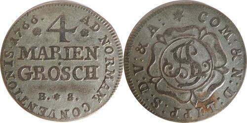 Lieferumfang:Deutschland : 4 Mariengroschen Simon August  1766 ss.