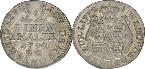 Lieferumfang:Deutschland : 1/12 Taler Wilhelm Leopold  1790 ss.